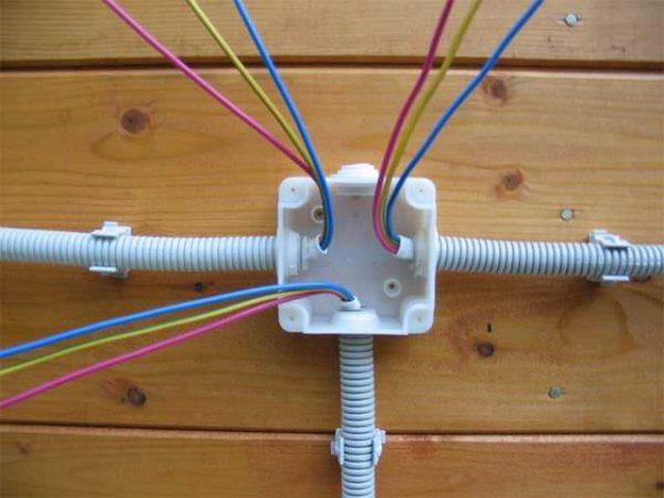 Наружная коробка для открытой проводки