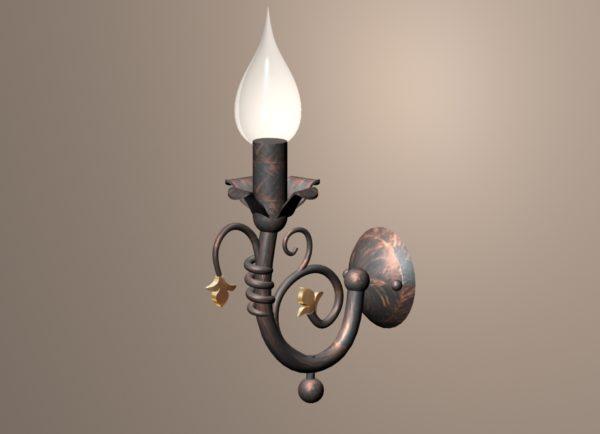 Настенный металлический светильник