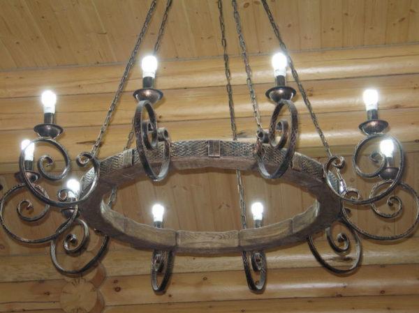 Потолочный светильник под старину на цепях