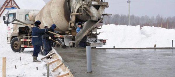 betonirovanie v zimnix usloviyax 600x266 - Теплый пол проводом пнсв