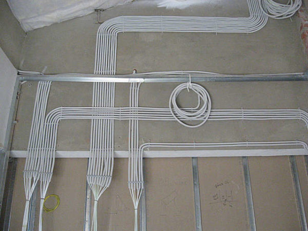 Электропроводка кабелем NYM