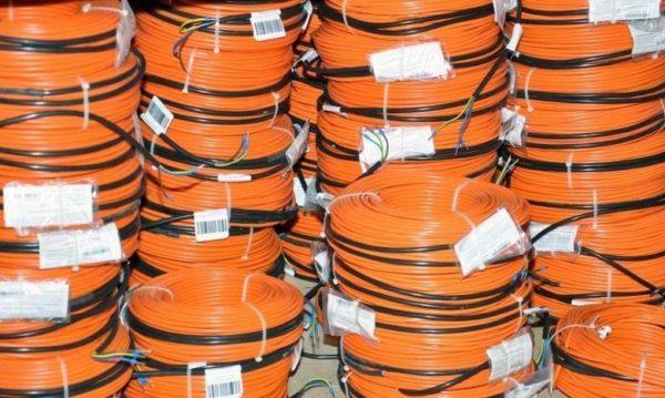 Прогревочные провода в бухтах