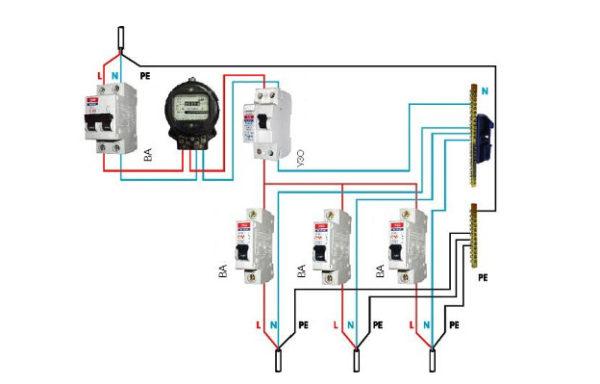 Общая схема электропроводки