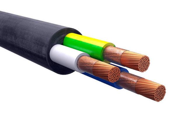 Строение кабеля КГтп 3х4