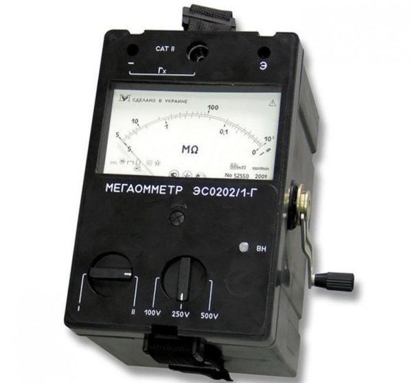 Мегаомметр ЭС0202/1Г с ручным генератором