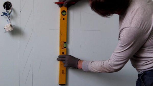 Разметка стен под электропроводку