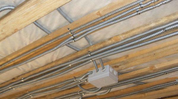 Электропроводка в доме с деревянными перекрытиями