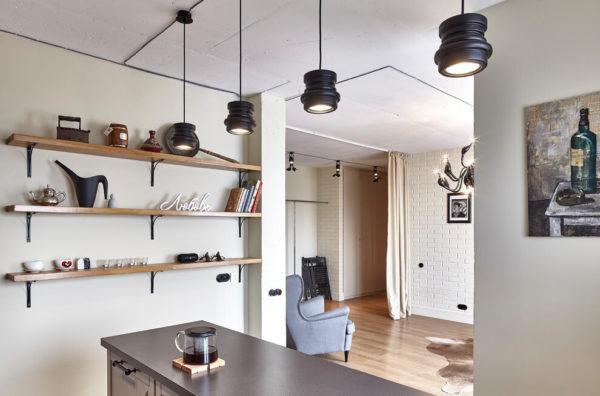 Проводка открытым кабелем в интерьере квартиры