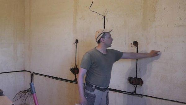 Разводка электрики под кухонный гарнитур