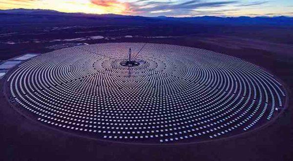 Солнечные электростанции ночью