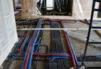 Укладка электропроводки в стяжке пола