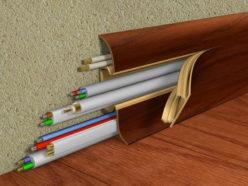 Использование плинтуса с кабель каналом