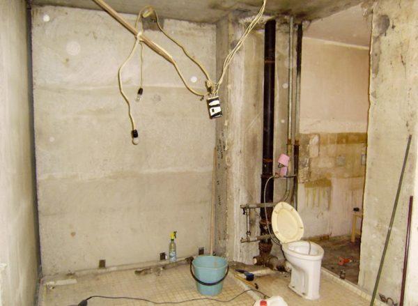 Замена электропроводки в ванной комнате