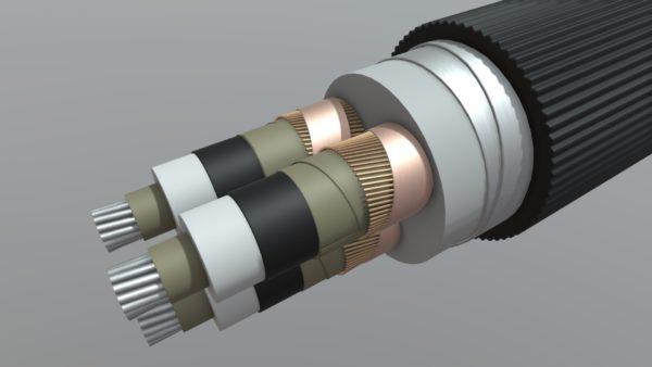 Изоляция АПвПу2г 110 кВт с ребрами жесткости
