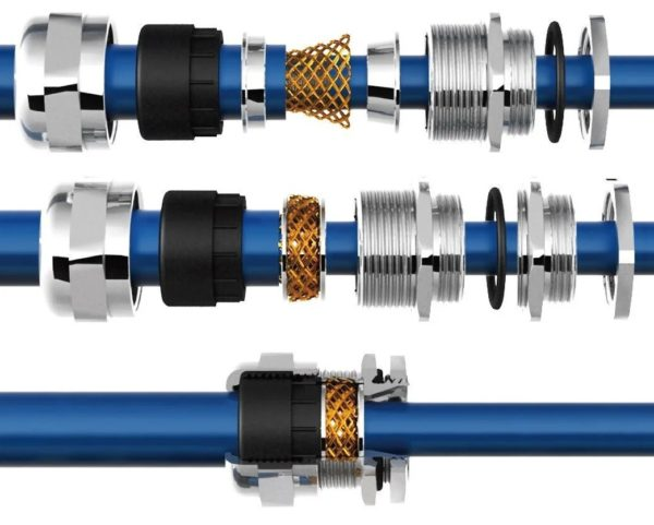 Устройство гермоввода для экранированного кабеля