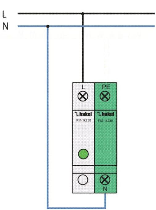 Подключение УЗИП по TN-C