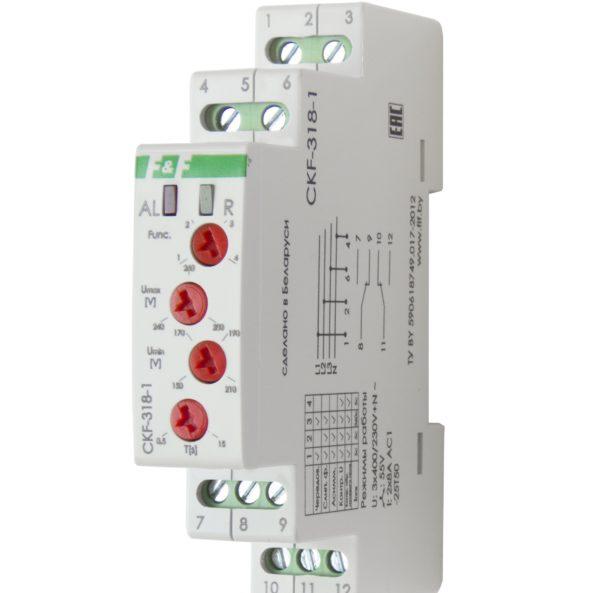 Реле контроля наличия и чередования фаз F&F CKF-318-1