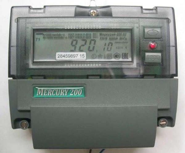 Счетчик Mercury 200 с амперметром