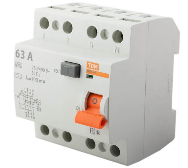Устройство защитного отключения TDM ВД1-63