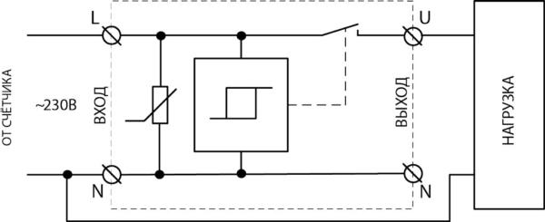 Схема подключения устройства защиты от искрения