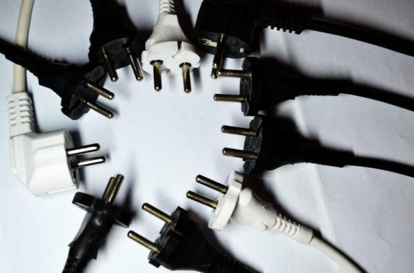 Виды электрических вилок