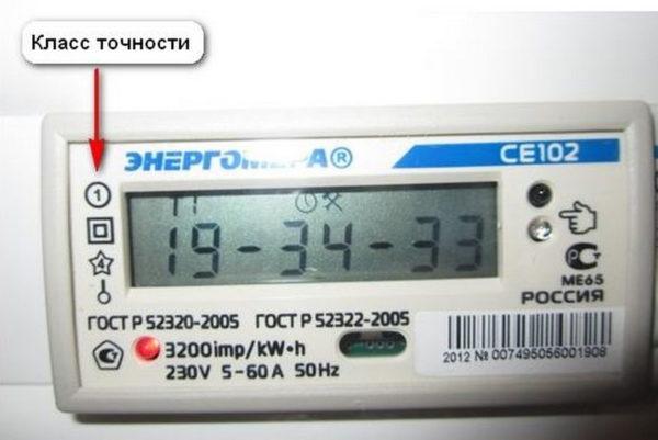 Класс точности электросчетчика